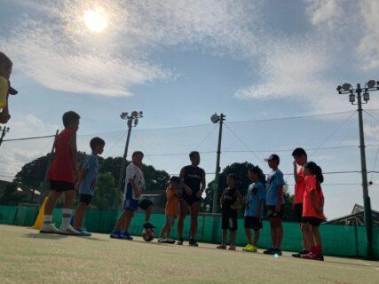 BTフットサルコートで開催中のサッカースクール